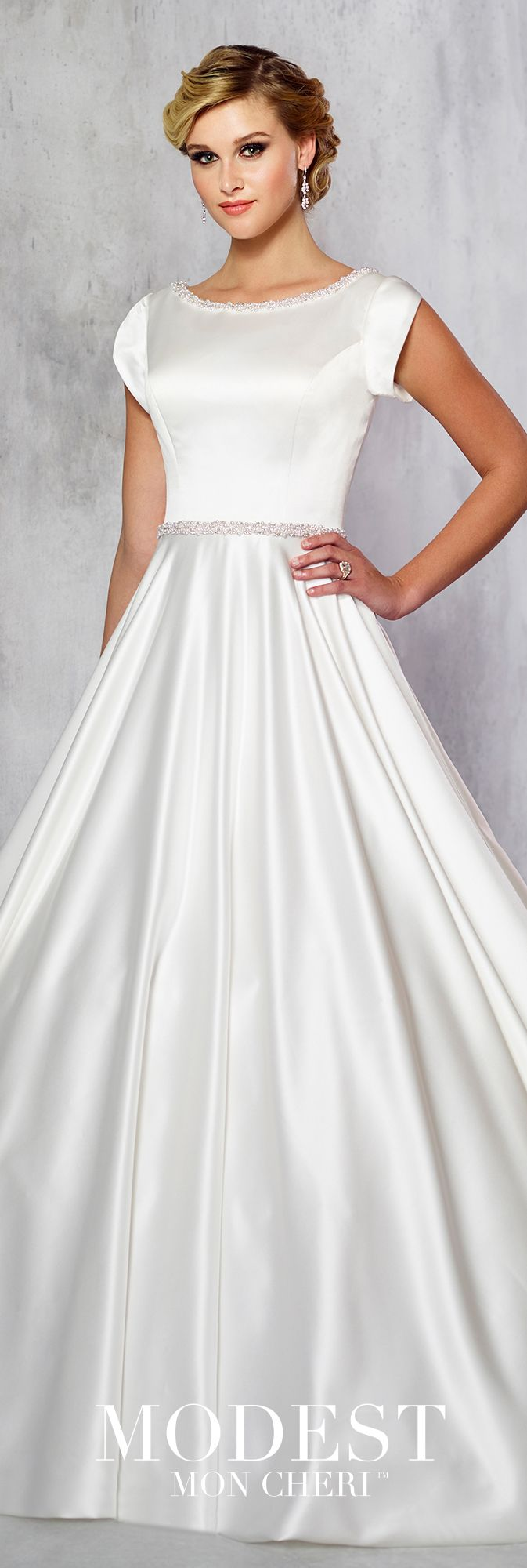 Tr modest wedding pearl beads and ball gowns