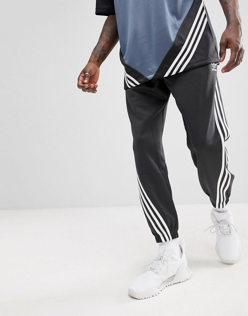 adidas Originals Nova Wrap Around Joggers In Black CE4806   Male ... ccba5ce07119
