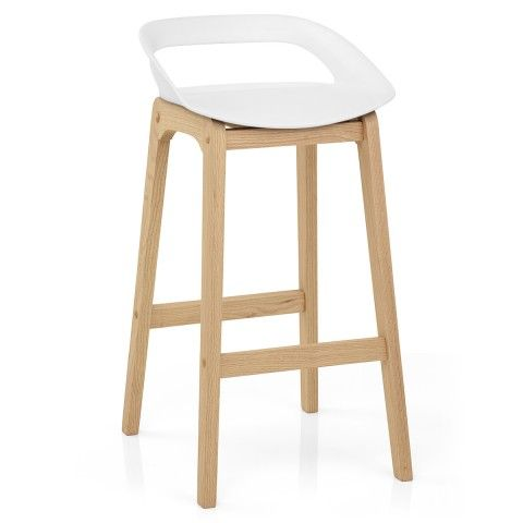 Cool Crew Wooden Bar Stool White In 2019 Scandinavian Style Bralicious Painted Fabric Chair Ideas Braliciousco