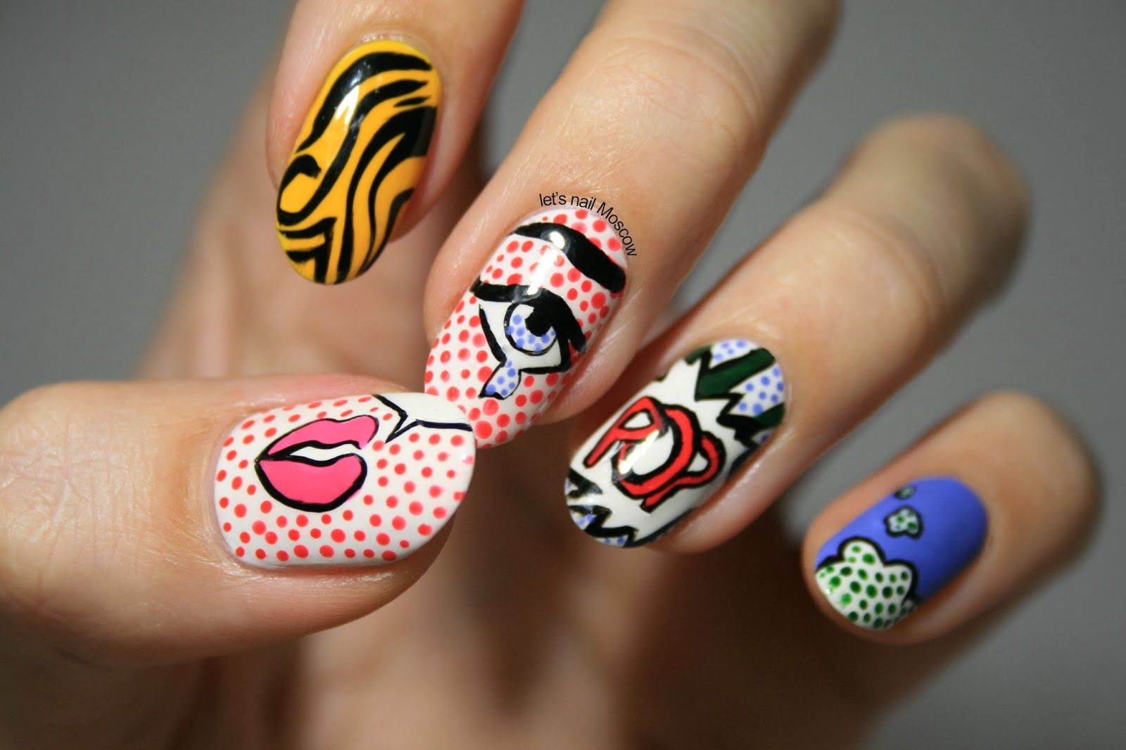 Pop Art Nails Nailart Nails Pinterest Pop Art Nails Art