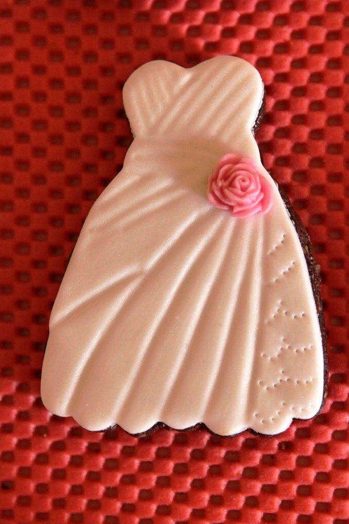 galleta decorada vestido de novia / wedding dress cookie   galletas