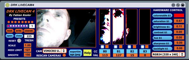 Free Max For Live - DRK LIVECAM4 1.0