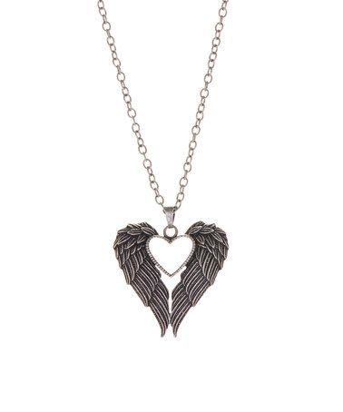 Another great find on #zulily! Silvertone Heart Wings Pendant Necklace #zulilyfinds