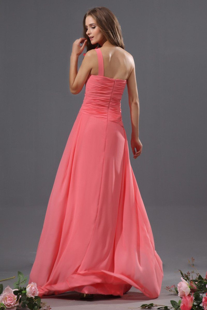 Perfectly Coral Bridesmaid Dress With One Shoulder | Best Bridesmaid ...