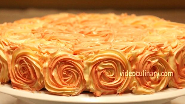 Picture of Rose Swirl Cake Decoration -
