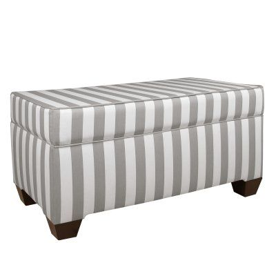 Skyline Storage Bench In Canopy Stripe   6225STESPCNPSTRBLC | Storage  Benches, Canopy And Products