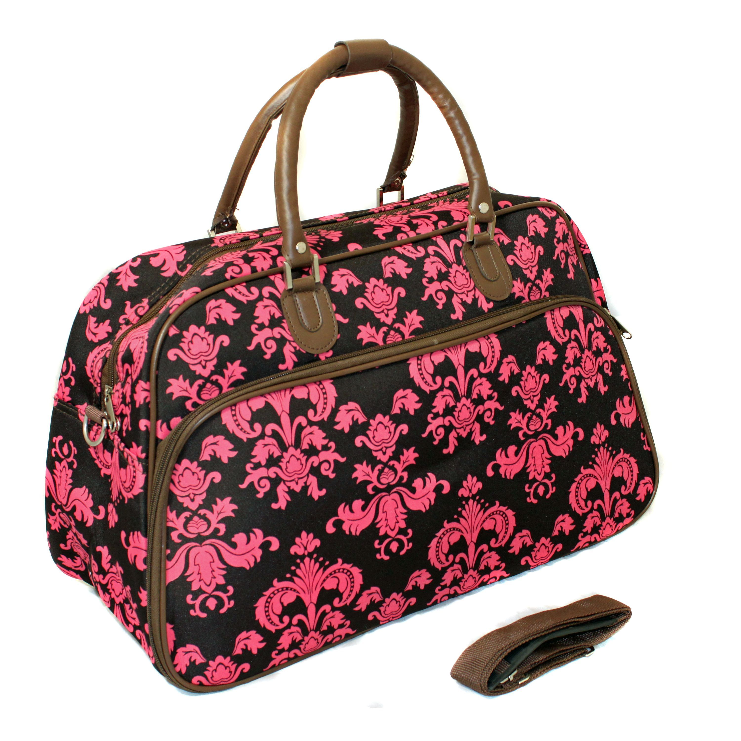 4243abe0a2e4 World Traveler Fashion Travel Damask 21-inch Carry On Shoulder Tote ...