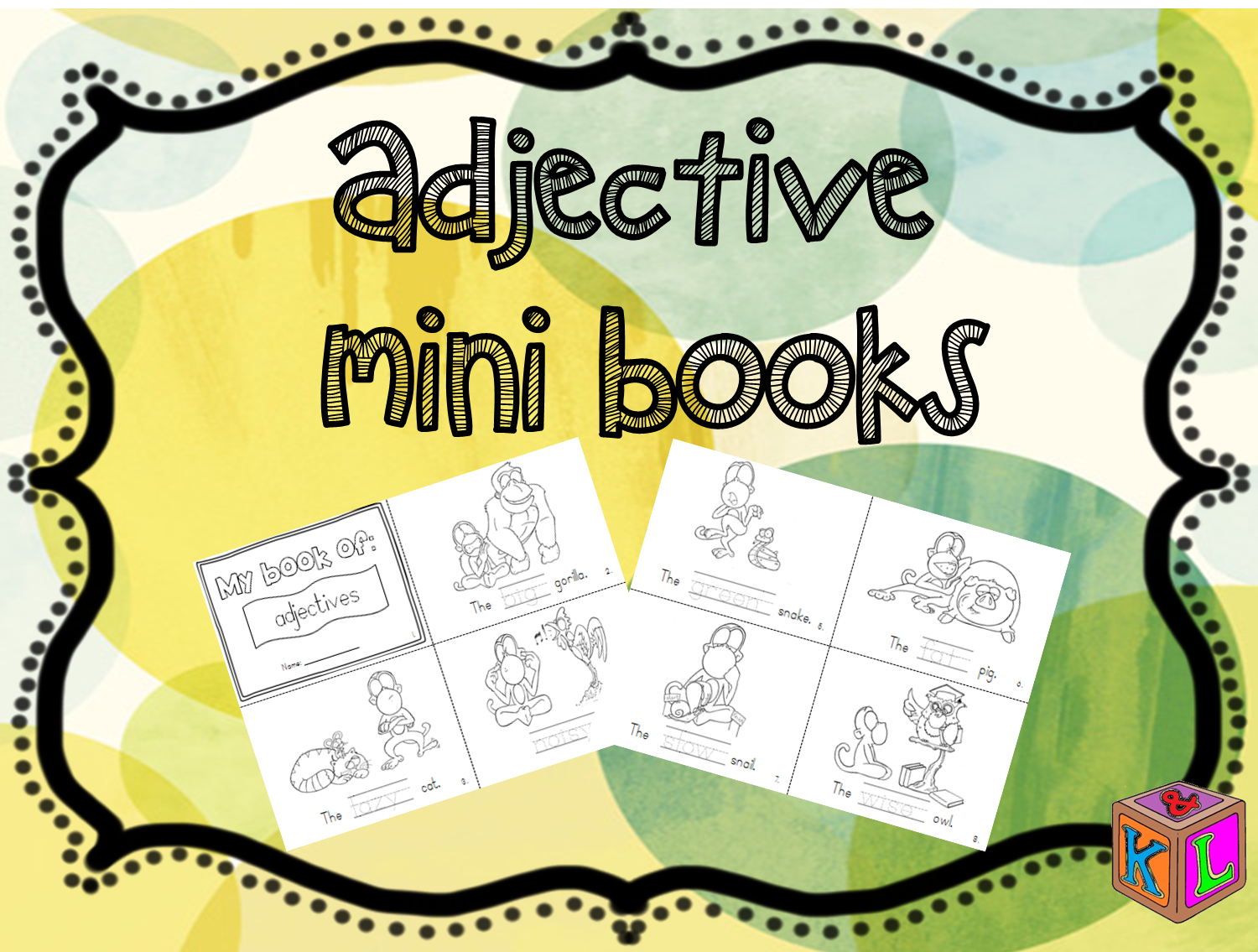 Adjective Mini Books For Young Learners Featuring Boombam