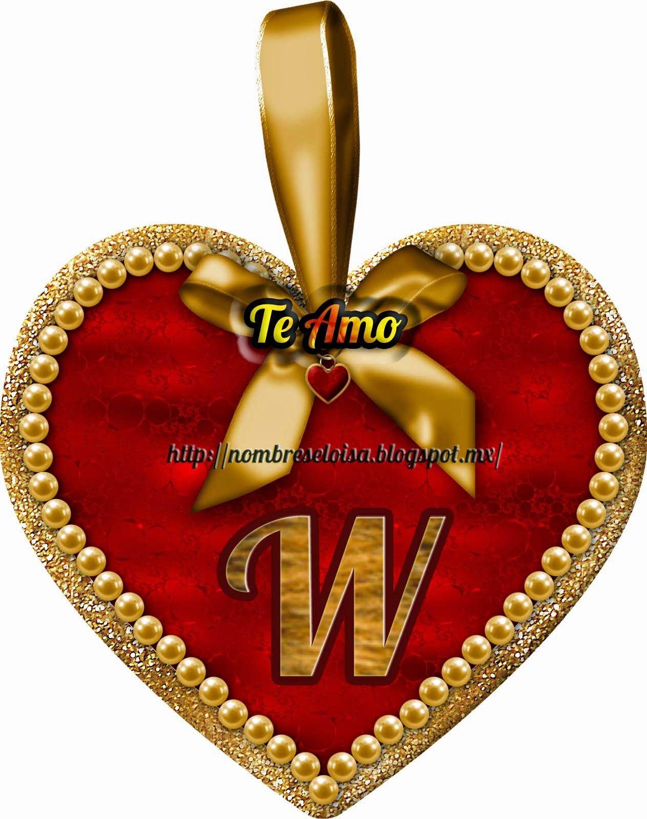 Nombres en Imagen: Medalla Corazón ( Iniciales )   wally   Pinterest ...