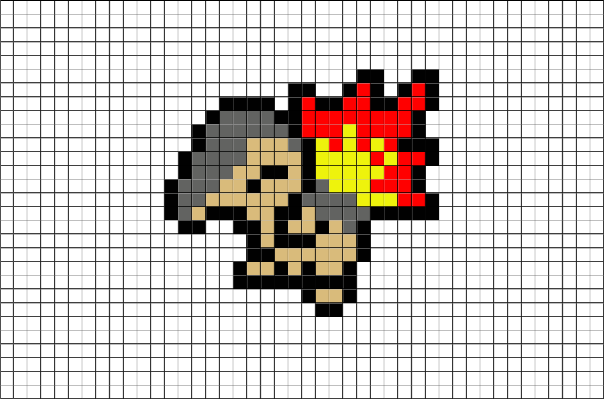 Pixel Art Pokemon Reptincel