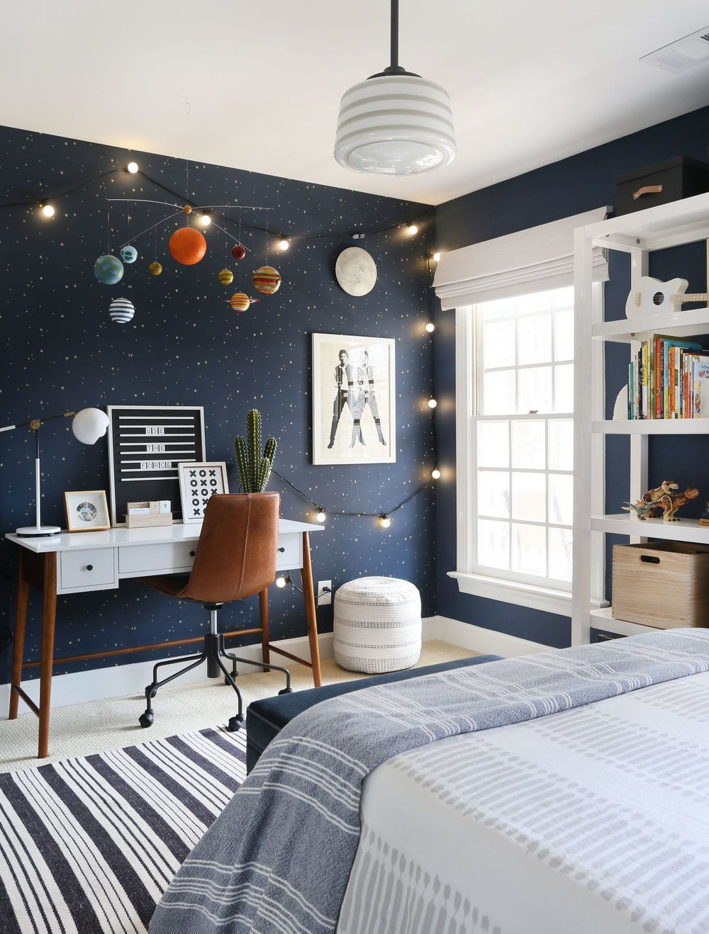 A Bold Playful And Out Of This World Kid S Room Sunny Circle Studio Looking For Boy S Room Ideas Th Boy Bedroom Design Outer Space Bedroom Boy Room Paint