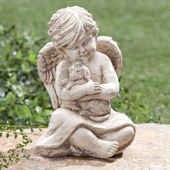 Memorial Angel Dog Statue Pet Grave Marker Garden Puppy Friend Memory Stone  NEW In Pet Supplies, Pet Memorials U0026 Urns