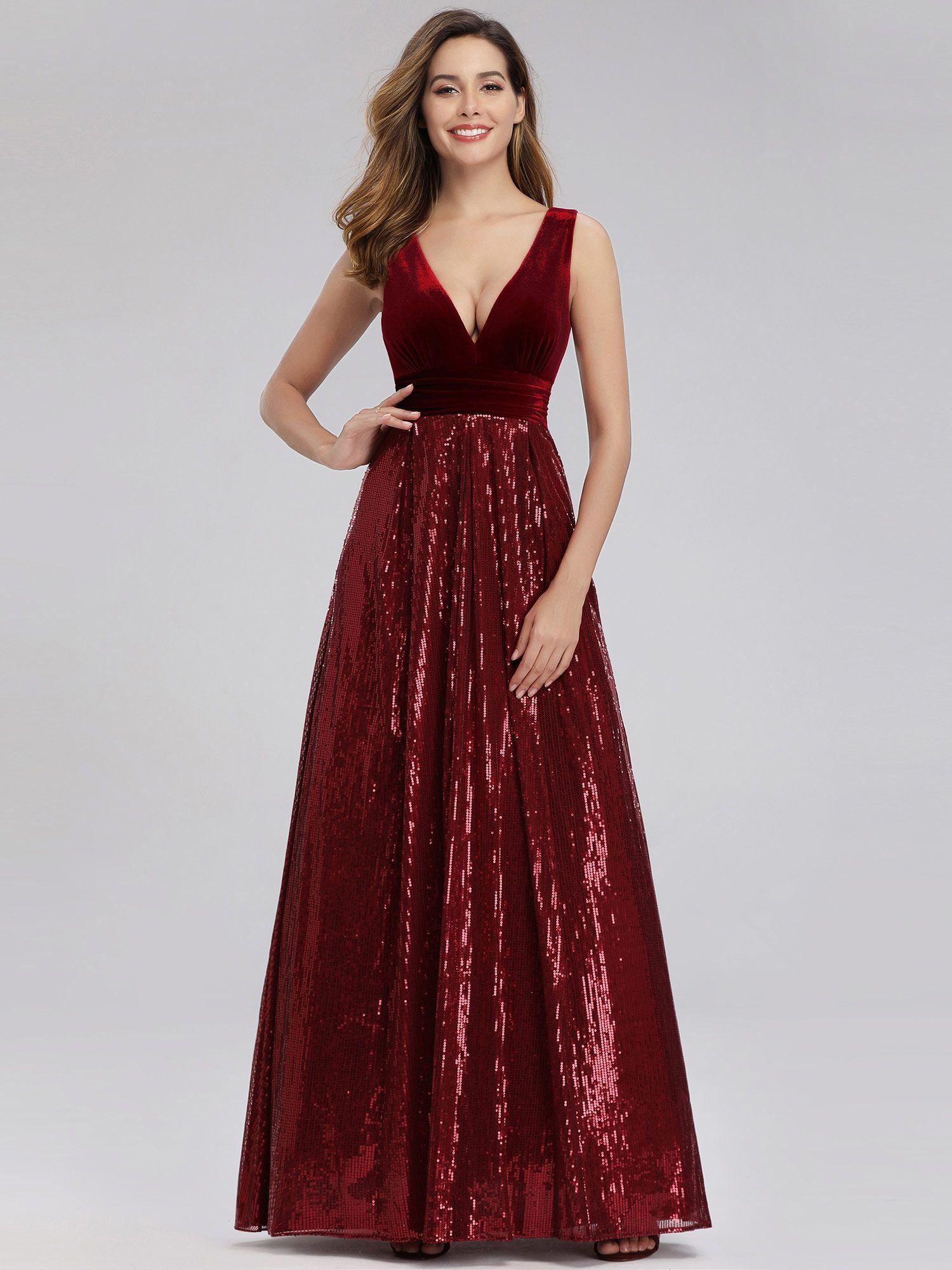 Ever Pretty Ever Pretty Women S V Neck Formal Evening Dresses For Women 00808 Us4 Walmart Com Evening Dresses Burgundy Bridesmaid Dresses Maxi Dress Party [ 2000 x 1500 Pixel ]
