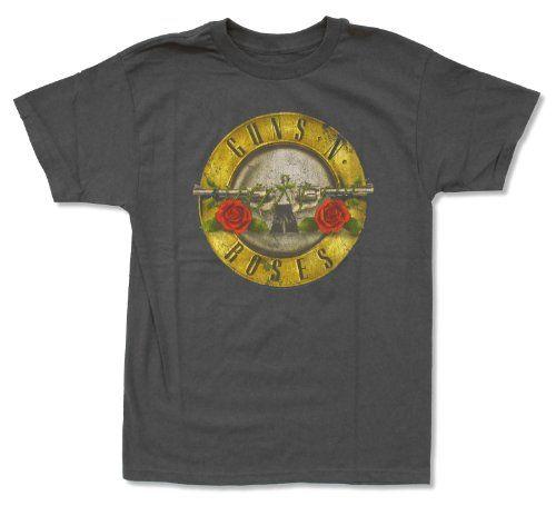 Hombre de Guns N Roses Bullet en Heather camiseta Heather s523O3nlHk