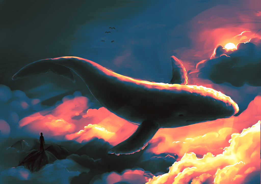 Whale in the Sky by SigneTveitan