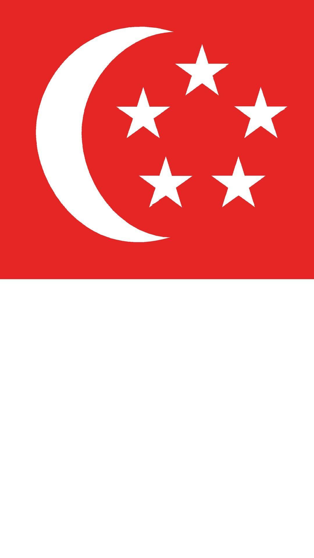 Wallpaper Singapore Flag Singapura