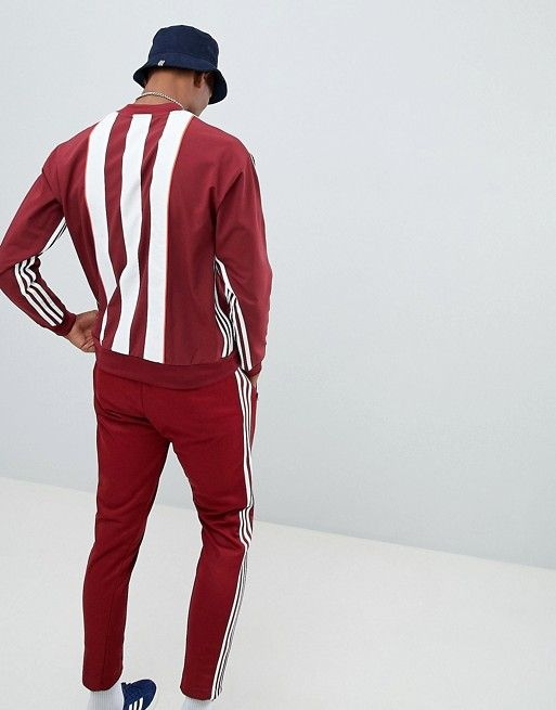 new concept popular brand new high adidas Originals Authentic Stripe Sweat In Red DH3836 in ...