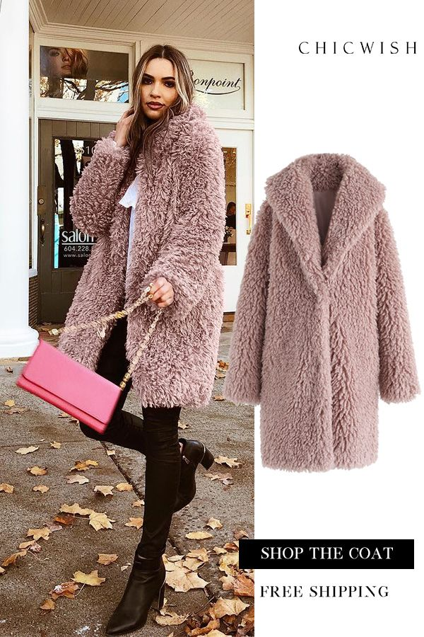33a4be0283 Free Shipping   Easy Return. Up to 30% Off. Feeling of Warmth Faux Fur  Longline Coat featured by vitaliia