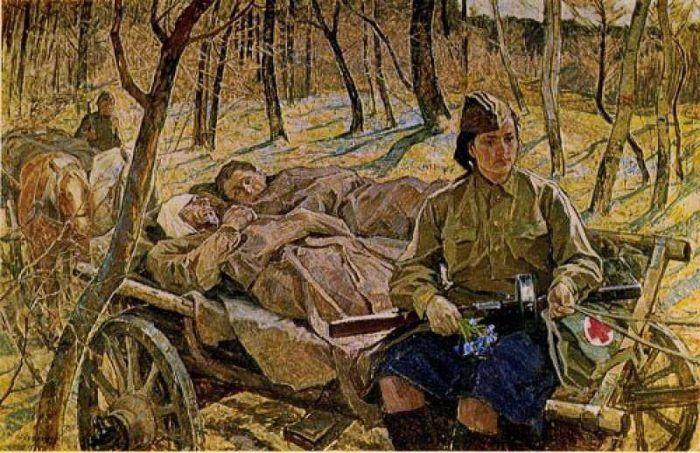 Картины о Великой Отечественной войне и о победе   Картины ...