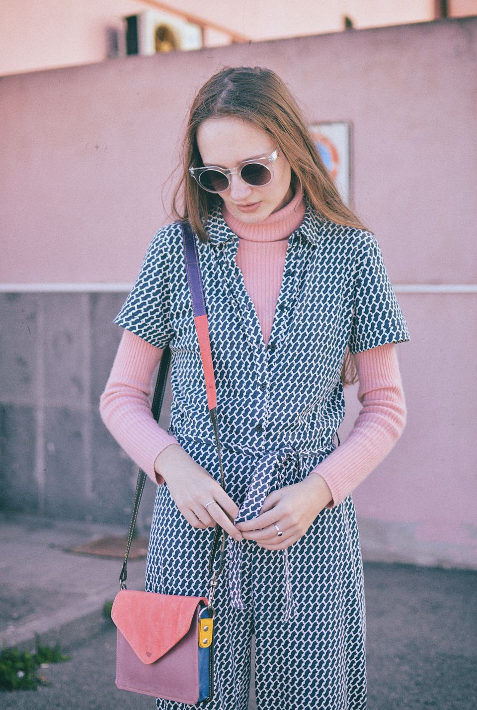 Ethical Outfit Ideas - People Tree Jumpsuit & Recycled Leather What Daisy Did Bag