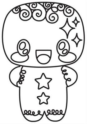 Kawaii Christmas Gingerbread Man Image Kawaii Christmas Christmas Embroidery Patterns Christmas Embroidery