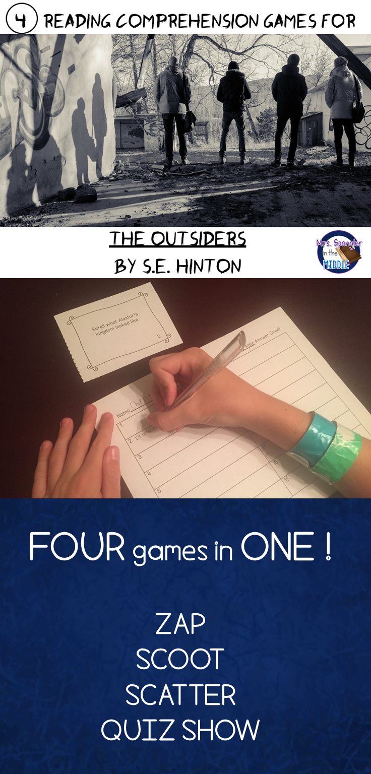the outsiders reading comprehension games in comprehension 40 questions about the setting characters plot and theme of the outsiders directions