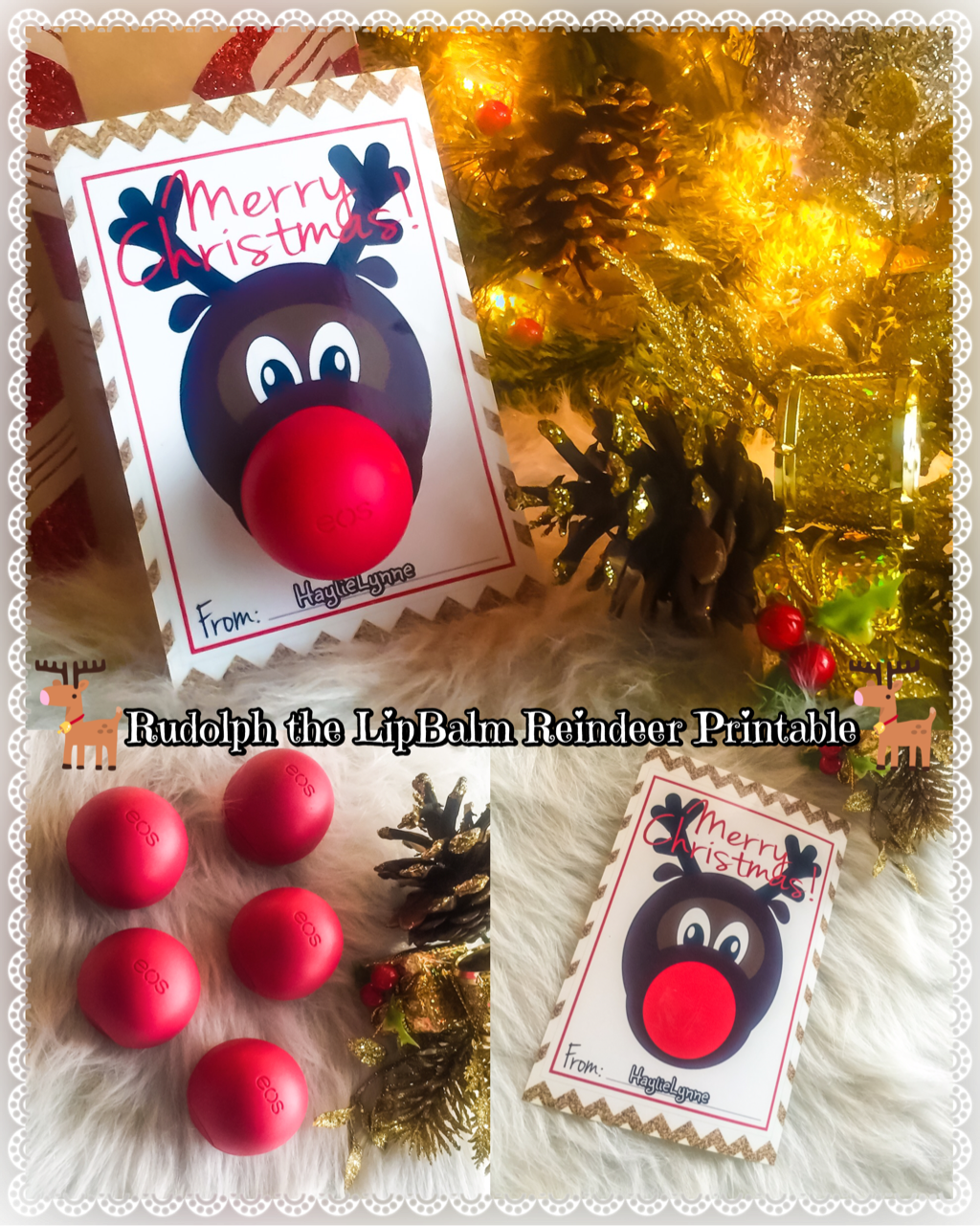 Rudolph The Lipbalm Reindeer Printable