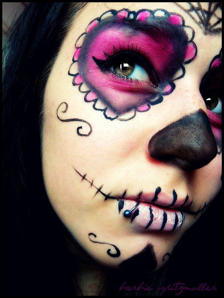 easy sugar skull makeup for kids Google Search Kids