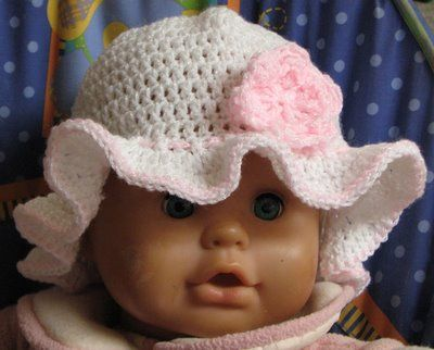 Free Crochet Floppy Brim Hat Pattern for baby girl  7cd1ad45e6c