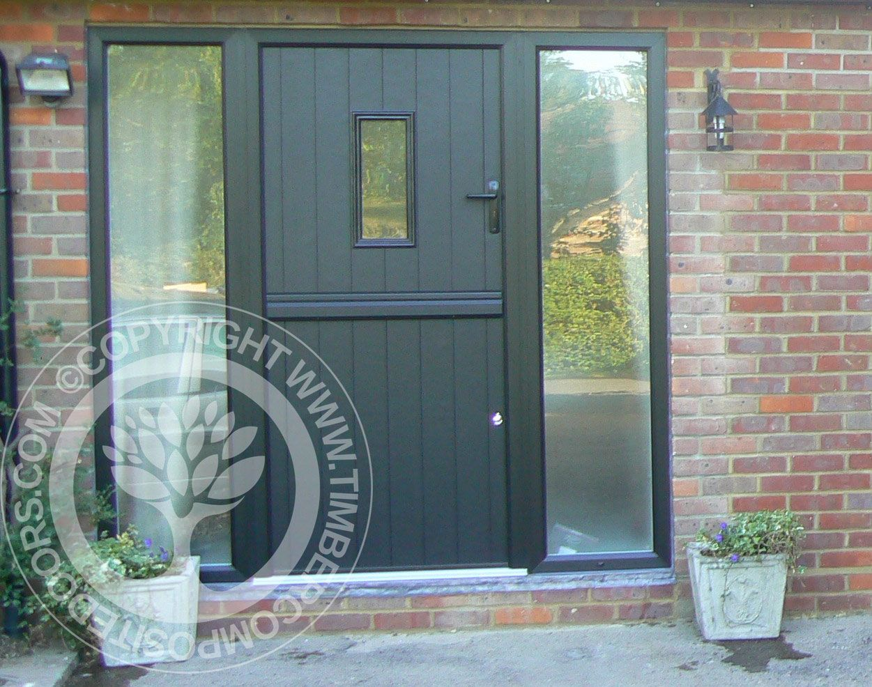 ... Door In Black With Matching Frames And Side Panels Part Of Our Timber  Core Composite Door Range From The Solidor Collection, You Can Design Your  Perfect ...