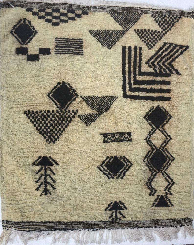 Beni ourain Moroccan rug berber hanging wall handwoven vintage carpet Xmas gift