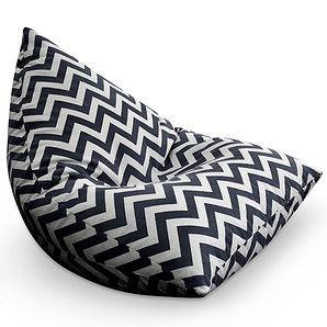 Sensational Life Pyramid Zig Zag Bean Bag Black Target Living Caraccident5 Cool Chair Designs And Ideas Caraccident5Info