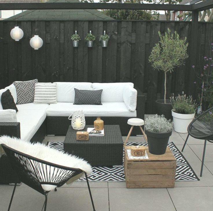 Terrazzo, moderno, elegante, bianco, divano, salotto
