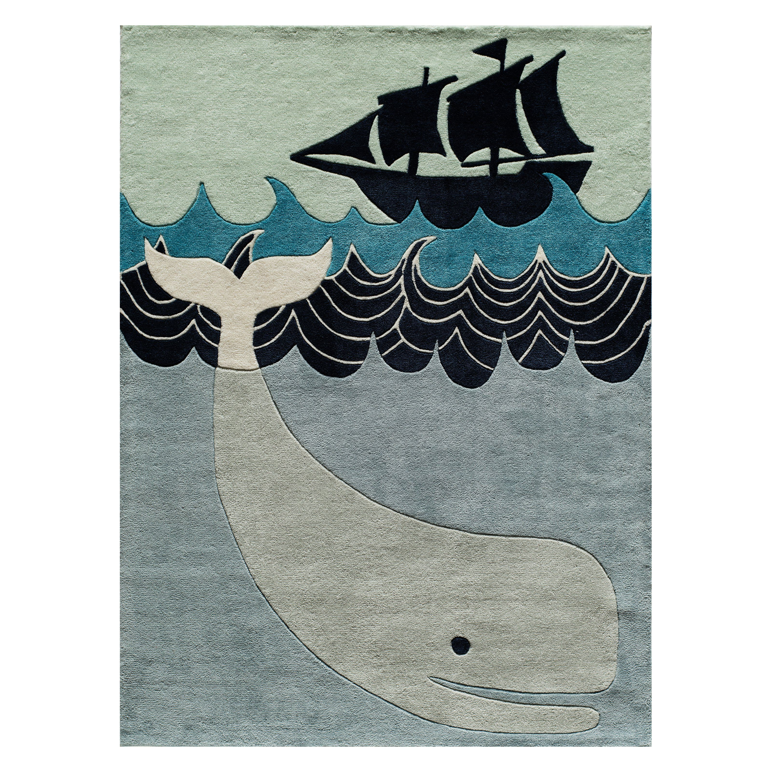 Momeni Lil Mo Whimsy Whale Kids Indoor Area Rug The Momeni Lil Mo