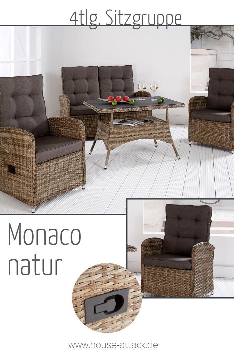 Die Monaco Loungemobel Aus Polyrattan Bestehen Aus Zwei