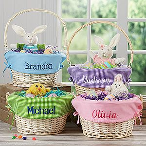 Love these personalized easter baskets they are large willow love these personalized easter baskets they are large willow baskets that come with your choice negle Image collections