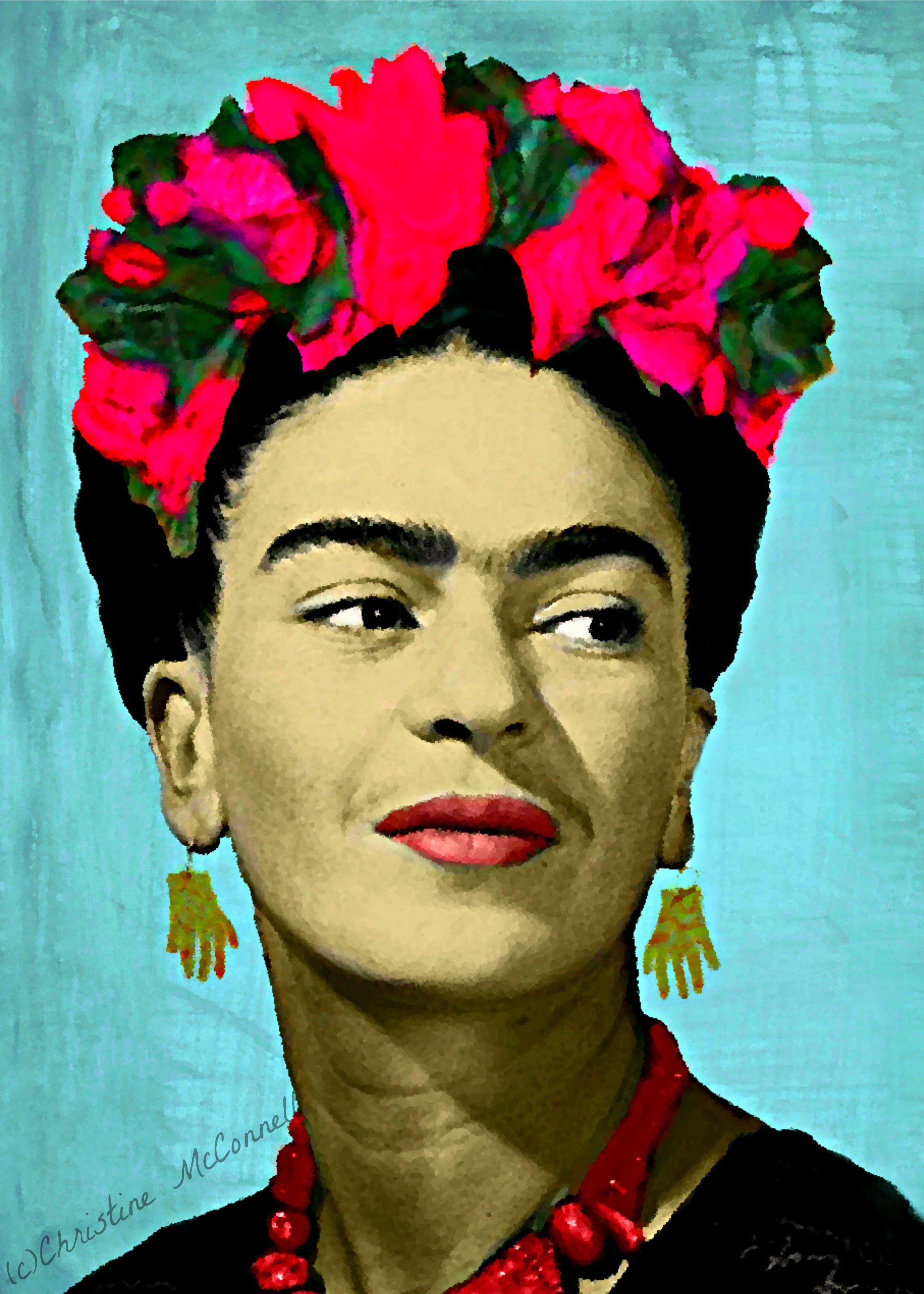 frida kahlo digital painting print from frida pinterest frauen. Black Bedroom Furniture Sets. Home Design Ideas