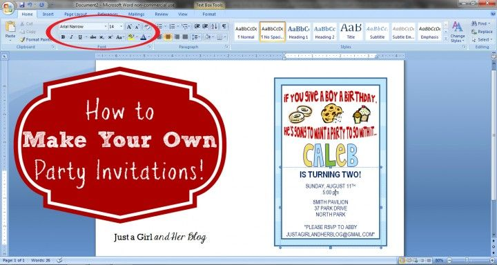 How To Make Your Own Party Invitations Create Birthday Invitations Custom Birthday Invitations Make Birthday Invitations