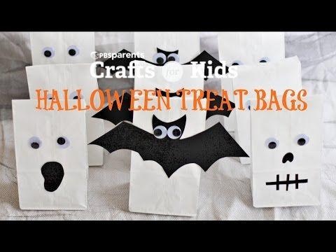 3 DIY Halloween Treat Bags Video Diy halloween treat bags, Diy - decorate halloween bags