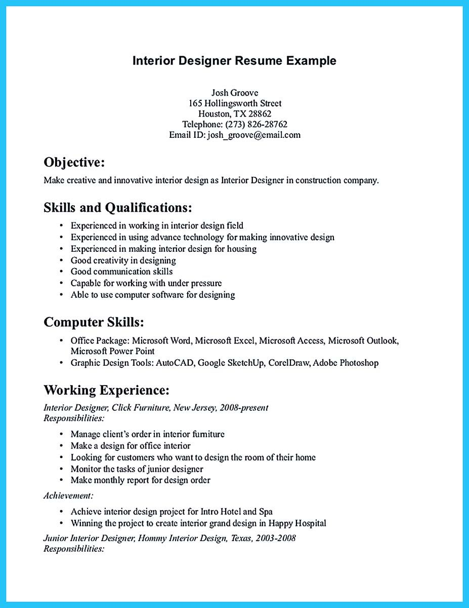 If You Are An Architect And You Want To Make A Proposal For Your Job You Need To Provid Architect Resume Sample Interior Design Resume Template Resume Design