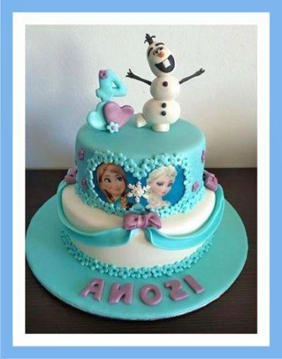 Decoracion facil de tortas de cumplea os infantiles de frozen torta pinterest - Cumpleanos infantiles comida ...