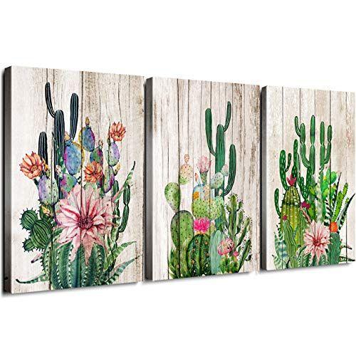 Cactus Decor Bathroom Canvas Prints Wall Art Green Tropical Desert Fleshy Plant Watercolor Pa Cactus Wall Art Bathroom Canvas Cactus Decor