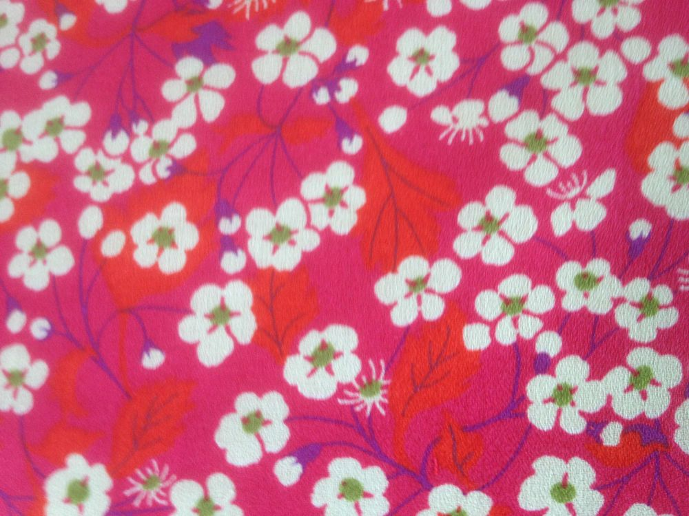 MITSI in PINKS on LIBERTY TANA CREPE COTTON ( NEW FABRIC ) 1.00 MTR