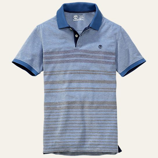 Men s Millers River Oxford Striped Polo Shirt db1e33e5ea599