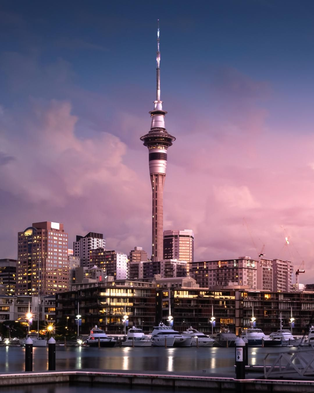 Sky Tower At Sunset Auckland Oc 1080x1350 In 2021 Auckland City New Zealand Travel Auckland Sunset sky tower lights city night