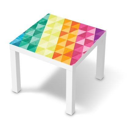 Stickers Table Basse Lack 55x55 Multi Couleurs Triangles Lack