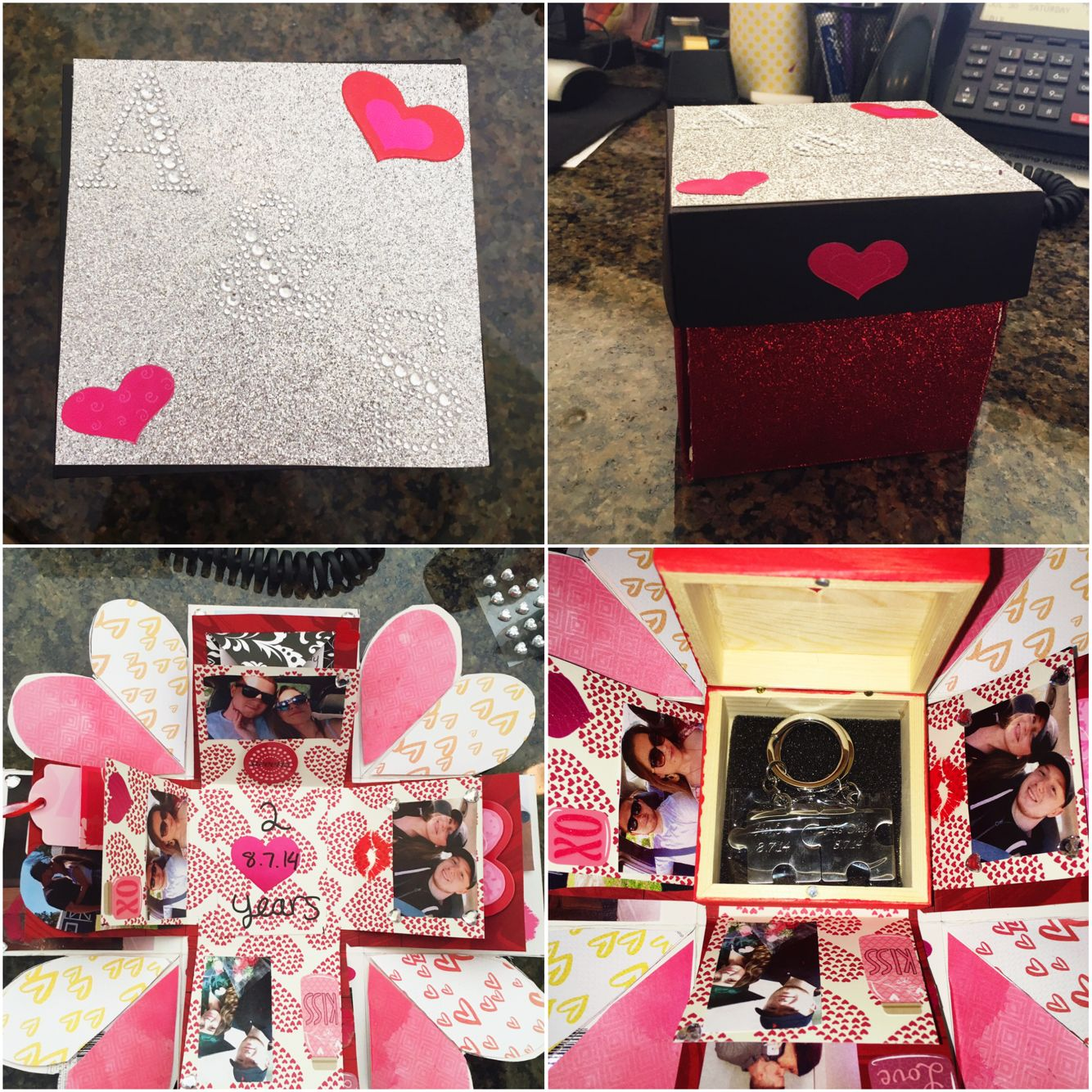 Diy mini album scrapbook for boyfriend 2014 youtube - Exploding Box I Made For My Boyfriend For Our 2 Years Together Anniversary