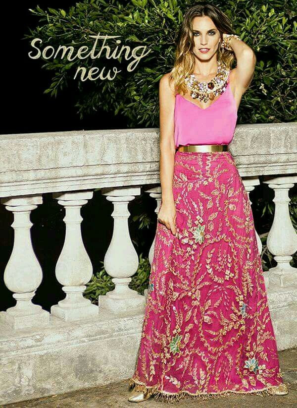 Pollera estampada | Moda | Pinterest | Vestiditos, Falda y Vestidos ...
