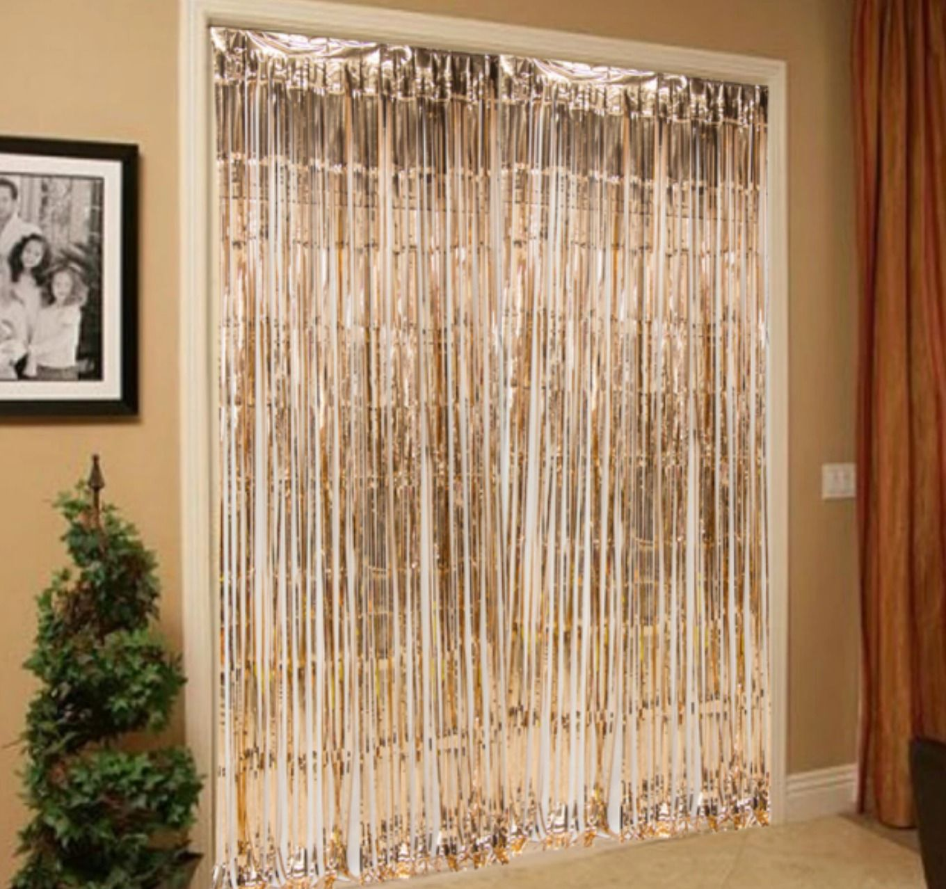 Metallic Foil Curtain For Diy Wedding And Event Supplies 12colors