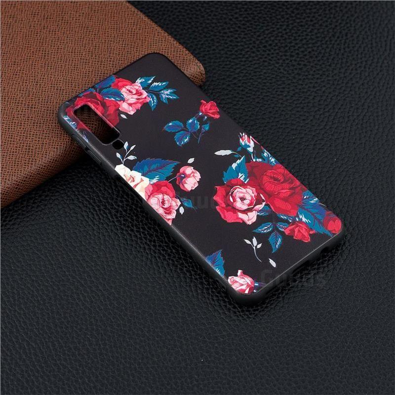Safflower 3d Embossed Relief Black Soft Back Cover For Samsung Galaxy A7 2018 Galaxy A7 2018 Samsung Galaxy Samsung Samsung Wallpaper